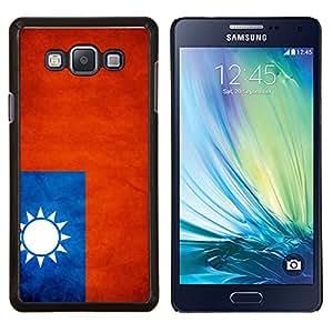 TECHCASE---Cubierta de la caja de protección para la piel dura ** Samsung Galaxy A7 ( A7000 ) ** --Nación Bandera Nacional País Taiwán