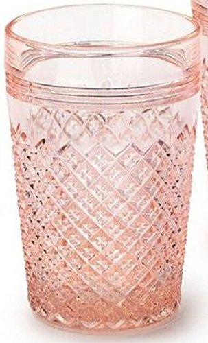 Northwood Carnival Glass Patterns - Tumbler - Addison Pattern Mosser Glass USA (Rose)