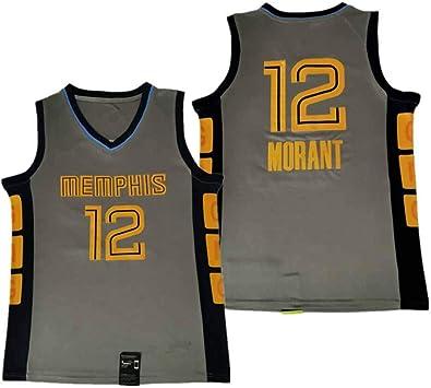 YMXBK Uniformes de Baloncesto para Hombre Grizzlies 12# MORANT ...