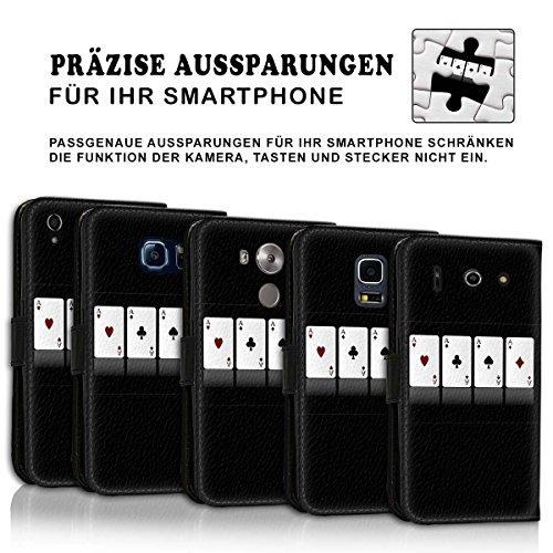 Wallet Book Style Flip Handy Tasche Case Schutz Hülle Schale Motiv Etui für Apple iPhone 6 / 6S - Design Flip MV219