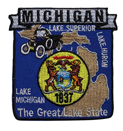 Michigan State Embroidery - Embroidery Patch State of Michigan MI Travel Souvenir 3