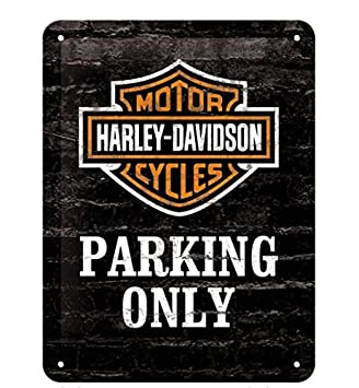 na Harley Davidson Parking Only small steel sign   200mm x 150mm