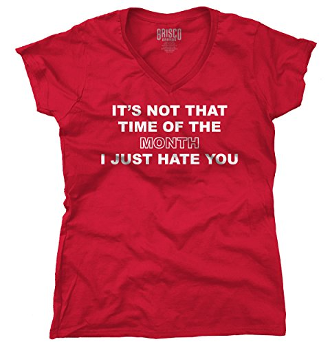 Pms Girls T-shirt (Classic Teaze Time Month Hate You Funny Shirt | PMS Period Girl Sarcastic Junior V-Neck Tee)