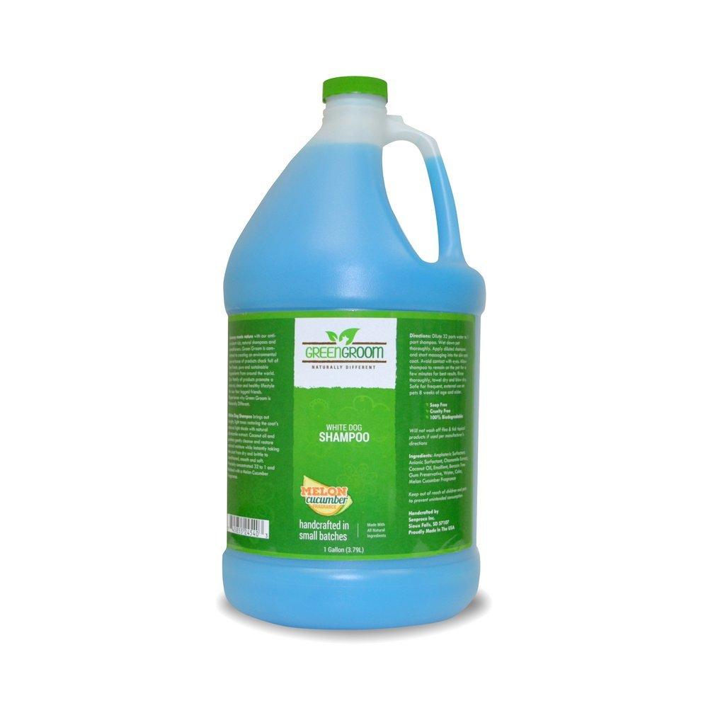 Green Groom Dog Shampoo, 1 Gallon, White