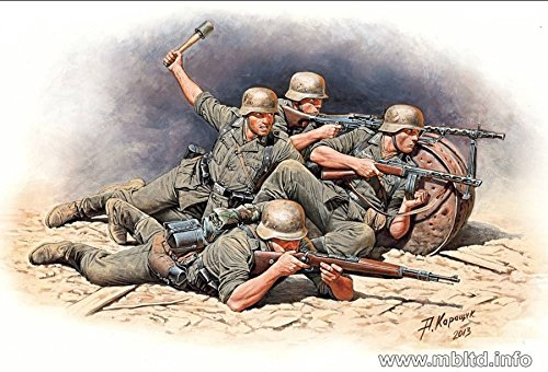 GERMAN INFANTRY, EASTERN FRONT BATTLE SERIES 5 FIGURES for sale  Delivered anywhere in USA