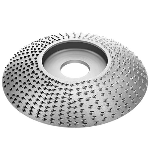 Wood Grinding Wheel Tungsten Carbide Grinding Wheel Grinder Shaping Disc Carving Abrasive Disc for Sanding Carving Shaping Polishing Angle Grinder Attachment Tool(Silver)