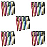 Metal Stylus Touch Screen Pen For Apple iPhone 4 4S 5 5S 5C 6 6 Plus iPad Galaxy Tablet Smartphone PDA (50pcs Mixed Colors)