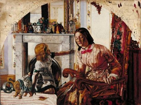 Oil Painting 'Frederic George Stephens - Mother And Child,1854', 12 x 16 inch / 30 x 41 cm , on High Definition HD canvas prints is for Gifts And Dining - Superstore Optical Sunglasses