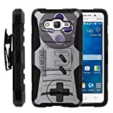 TurtleArmor | Compatible for Samsung Galaxy Grand Prime Case | G530 [Hyper Shock] Hybrid Dual Layer Armor Holster Belt Clip Case Kickstand – Classic Game Controller Review