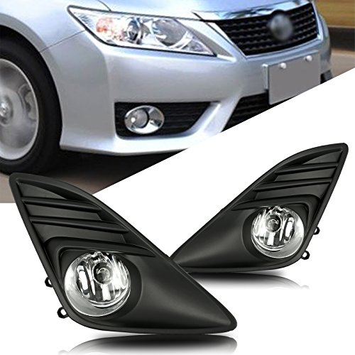 Scitoo Projector Clear Lens Fog Light Replacement fit 2012-2014 TOYOTA Camry (Wiring Kit Included) Pair Set ()
