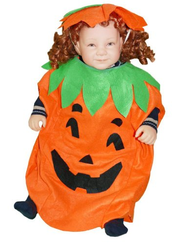 Scary Unusual Halloween Costumes (Fantasy World Pumpkin Halloween Costume f. Babies/Infants, Size: 6-9mths, An01)