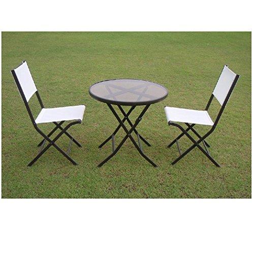 GARDEN COLLECTION 80953 ガーデンテーブルチェアー3点セット 【サイズ】テーブル φ710*H700 チェアー W440*H900*D555 B013HZGMW4