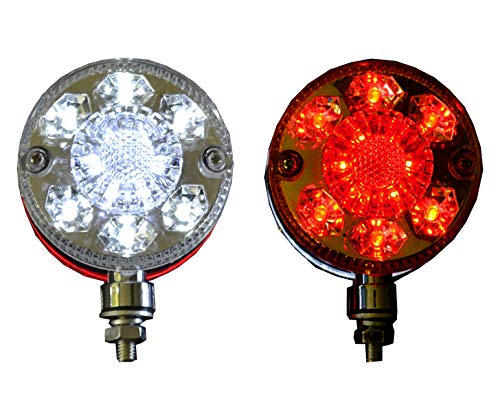 2 x 24 V Universal 24 LED Chrom Rot Wei/ß Seitenmarkierungsleuchten f/ür LKW Fahrgestell Anh/änger LKW Bus