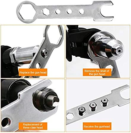 Details about  /Electric Riveting Adapter with 2.4//3.2//4.0//4.8mm Rivet Head for Electric Drill