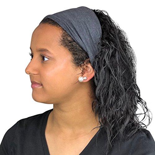 (Satin Life Satin Lined Headband, Protective Style (Dark Heather Gray))