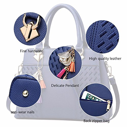 Vacaciones Navyblue Navyblue Hombro De Diseñador Bolsas Bag Satchel Bolsos de Señoras Regalos Tote MSZYZ wE71q