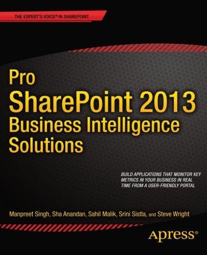 Pro SharePoint 2013 Business Intelligence Solutions by Manpreet Singh , Sahil Malik , Sha Kanjoor Anandan , Srini Sistla , Steve Wright, Publisher : Apress