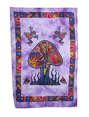 Psychedelic Mushroom Tapestry Frogs Magic Shrooms Tapestry Dorm Tapestry Hippie Tapestry Wall hanging Fantasy Bohemian Poster Trippy Animal Wall art