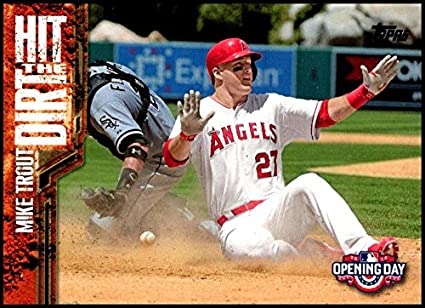 Amazoncom 2015 Topps Opening Day Hit The Dirt Htd 04 Mike