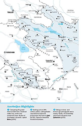Lonely Planet Georgia Armenia Azerbaijan Travel Guide - Georgia map lonely planet