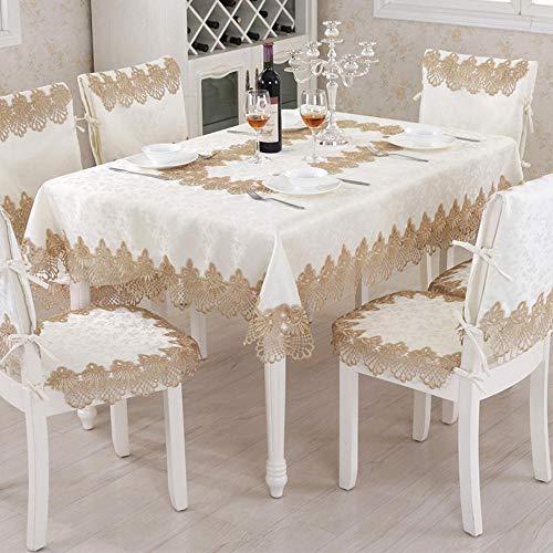 NVT Crochet redondo mantel de encaje elegante mantel de mesa de comedor casa de tela de lino de boda decoracion de tela, 60x120cm