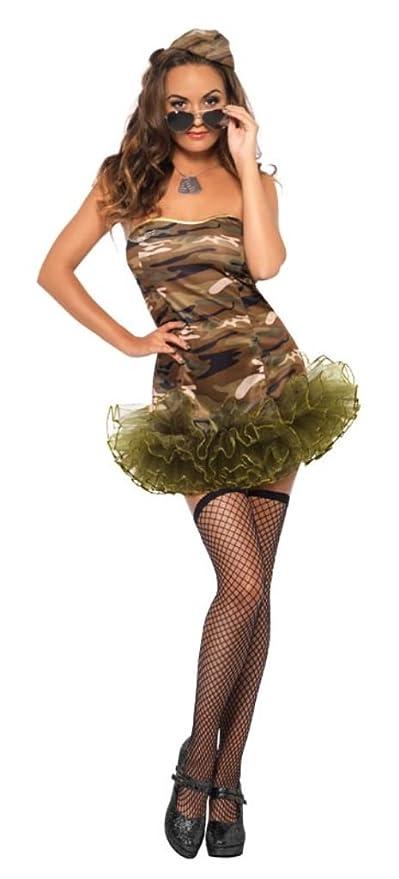 Smiffys - Disfraz de soldado para mujer, talla S (26193S): Amazon ...