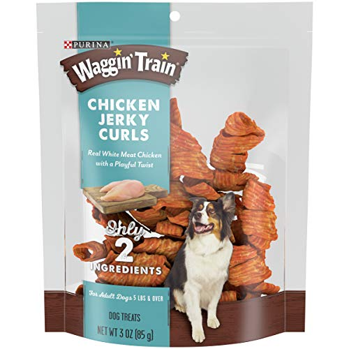 Purina Waggin' Train Limited Ingredient, Grain Free Dog Jerky Treat; Chicken Jerky Curls - 3 oz. Pouch, Pack of 6