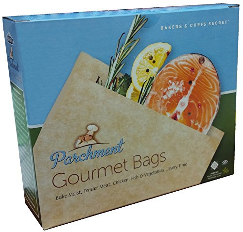Best Quality Parchment Bags for cooking/Parchment Gourmet Cooking Bag, 12 Bags Per (Cooking Fish)