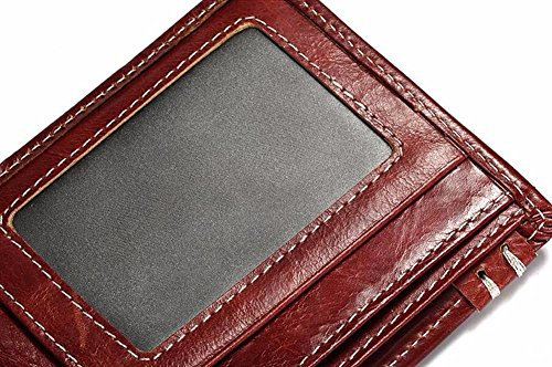 pocket wallet Men's gules pocket Leather bag money open LIGYM Mini pRqwUZZB