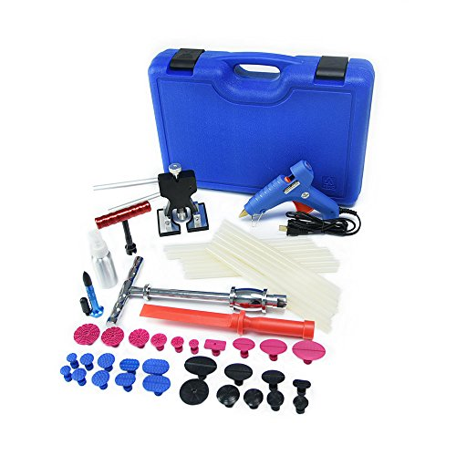Car Dent Remover Dent Puller Tool Paintless Dent Repair Tools PDR Kit Door Ding Dent Lifter Glue Puller Hail Damage Repair Dent Repair Kit Dent Removal Kit Dent Puller Kit by Wcaro (Image #1)'