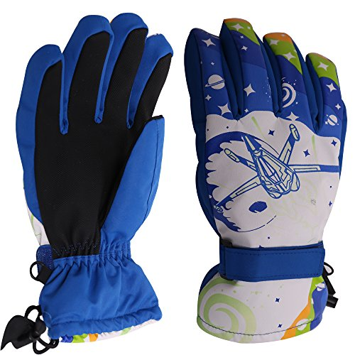 Sized Boy Girl Color Changing Winter Skiing Snowboard Gloves
