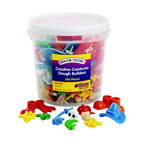 Colorations Creative Creatures Modeling Dough and Clay Builder Accessories for Kids (260 Pieces)