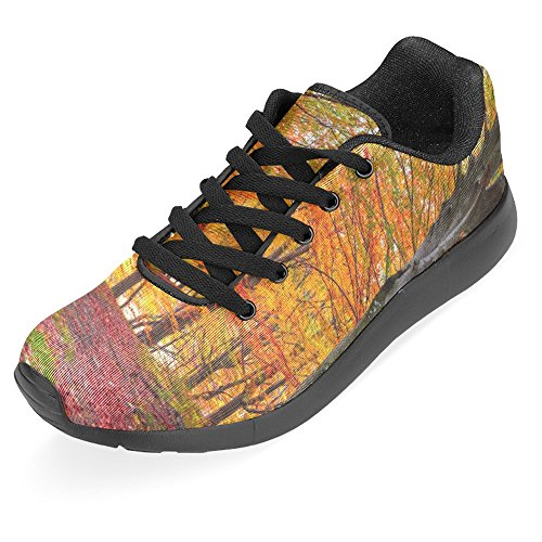 InterestPrint Womens Jogging Running Sneaker Lightweight Go Easy Walking Casual Comfort Running Shoes colorful Autumn Morning In The Mountain Forest Multi 1 e7vh33Hr