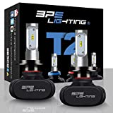 BPS Lighting T2 LED Headlight Bulbs Conversion Kit - 50W 8000 Lumen 6000K 6500K - Cool White - Super Bright - Car and Truck High and Low Beam - All-in One - Plug and Play … (H7)