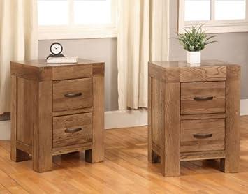 oak furniture house devon 2 schubladen nachttisch wieder eiche massiv mobel