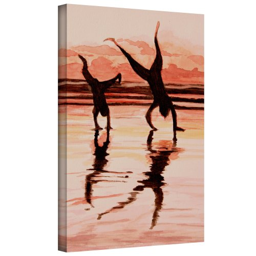 ArtWall Lindsey Janich 'Beach Buddies Handstands' Unwrapped