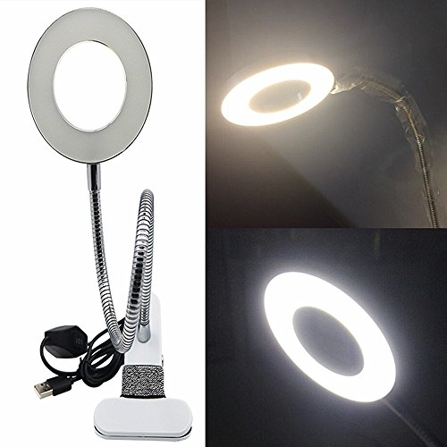 Moyidhi Portable Desk Lamp, Rechargeable Clip on USB LED Reading Lamp For Office,Home,School and Make up by Moyishi