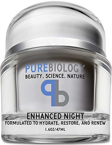 Pure Biology Anti Aging Night Cream w/Pure Retinol, Hyaluronic Acid & Breakthrough Anti Wrinkle Technology - Moisturizer For Face & Neck (1.6 oz)