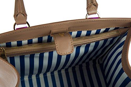 Patrizia Pepe borsa donna a mano shopping nuova originale beige Beige Realmente Descuento 3Watba