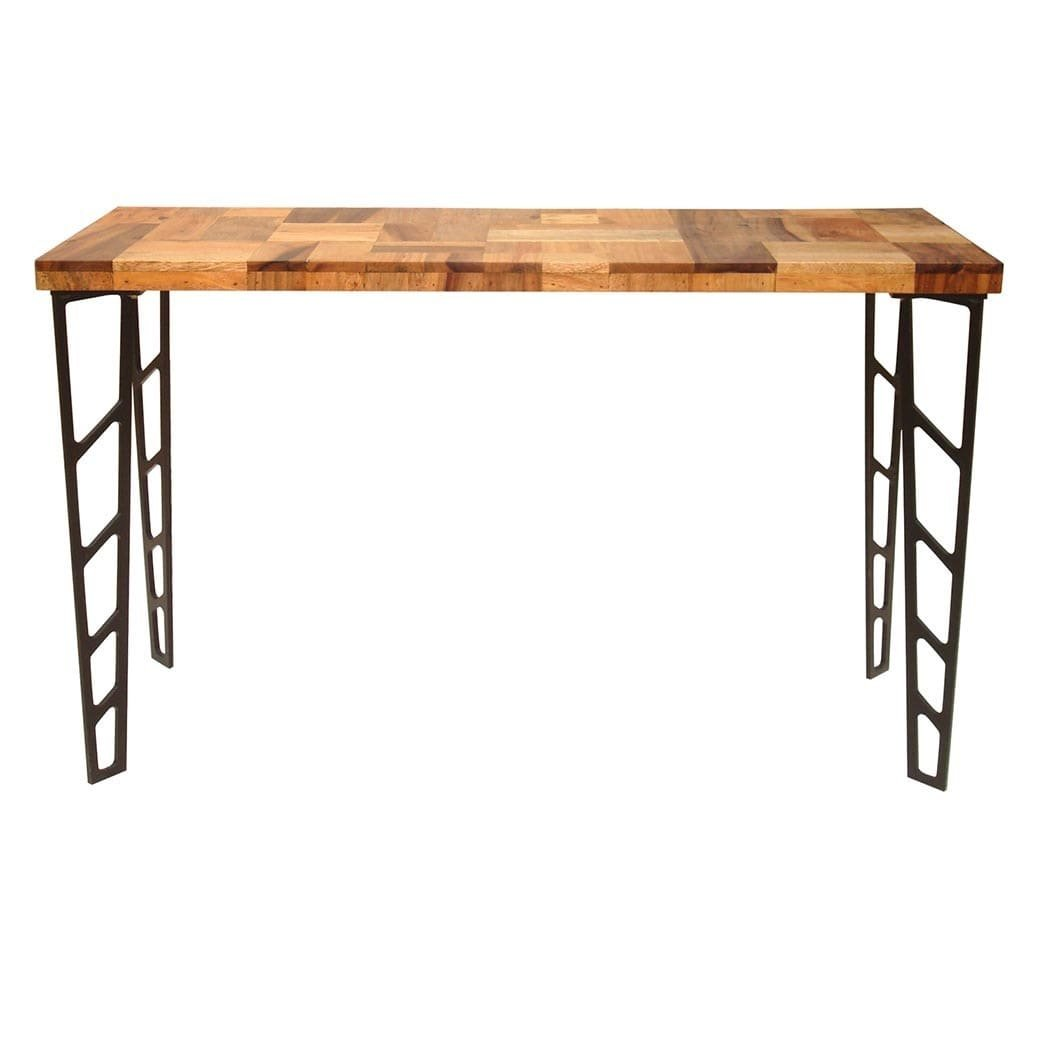 Aurelle Home Solid Reclaimed Rustic Bar Table