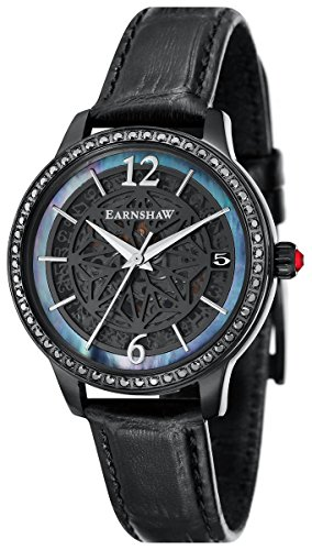 Thomas Earnshaw Womens The Lady Kew Watch - Black