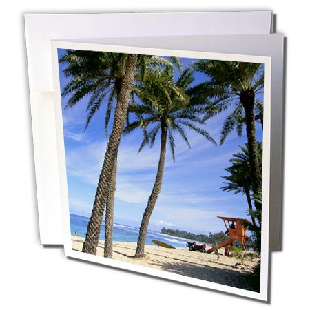 3dRose Sunset Beach North Shore Oahu Hawaii - Greeting Cards, 6 x 6
