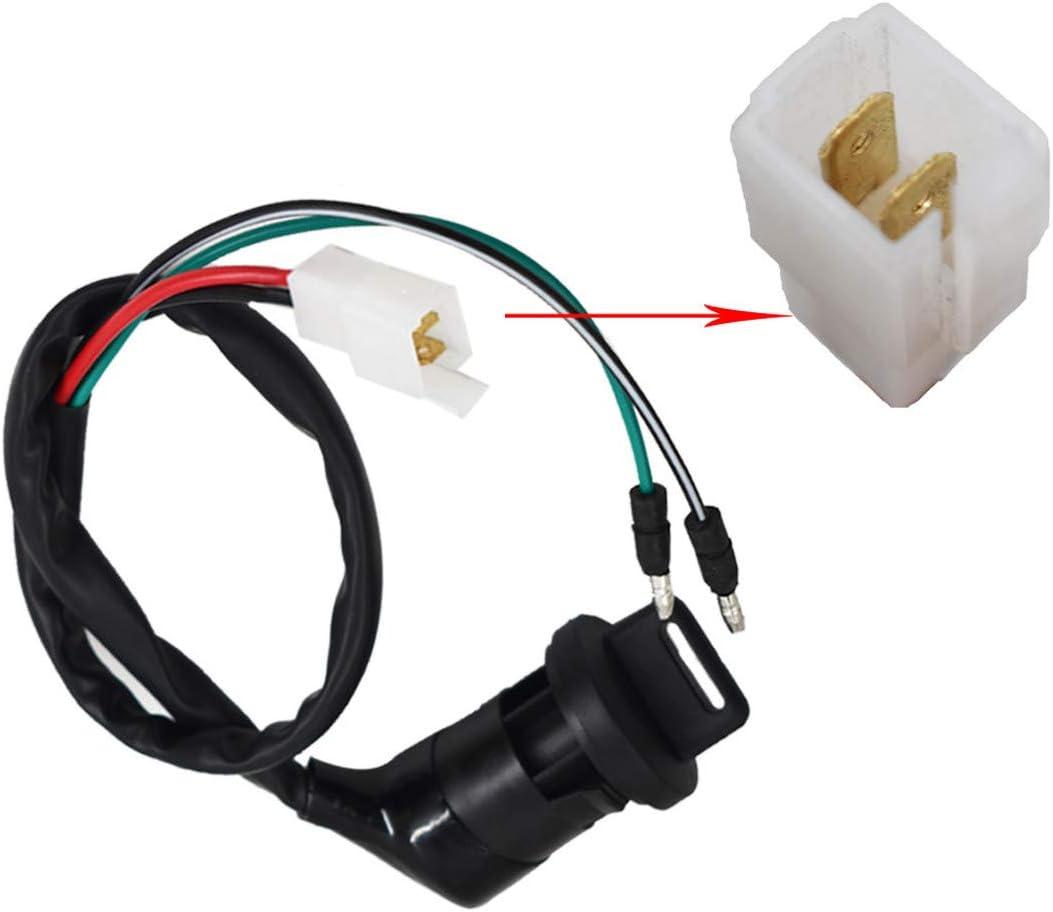 WFLNHB Ignition Key Switch Fit for Honda FourTrax 250 TRX250 TRX250R 1985 1986 1987