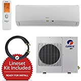 Gree GWH18TC-D3DNA1A-LE/LS1458FF15W- 18,000 BTU Wall Mount Mini Split Air Conditioner Heat Pump 208-230V & FREE 15 Line Set