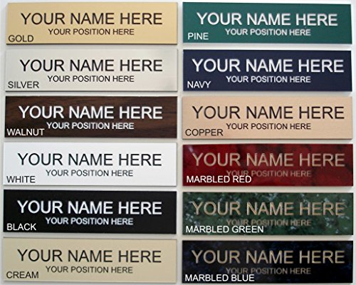 Wall Nameplate (Office Desk Name Plate or Wall / Door Sign - 2