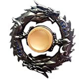 Dr nezix Metal Dragon Fidget Spinner Hand Finger Spinner Fidget EDC Toy for Relieving ADHD,Anxiety and Stress (Black)