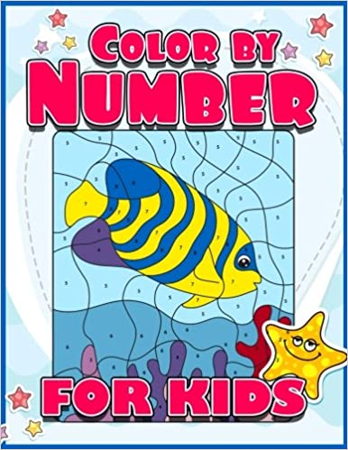 Amazon Color By Number For Kids A Super Cute Animals Coloring Book Jumbo Activity All Children Girls And Boys Large Pages Dot To