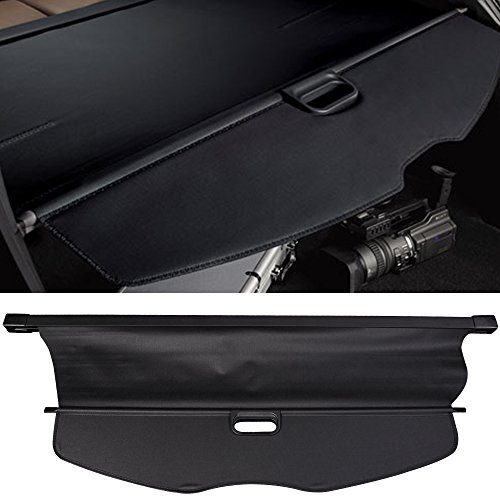 Cargo Cover Fits 2007-2013 Acura MDX | Factory Style Black Luggage Carrier Rear Trunk Security Cover by IKON MOTORSPORTS | 2008 2009 2010 2011 2012 (Acura Mdx Cargo Cover)