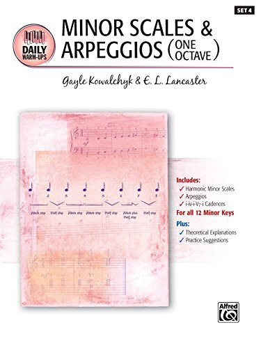 (Daily Warm-Ups, Set 4, Minor Scales & Arpeggios (One Octave): Piano Method for)