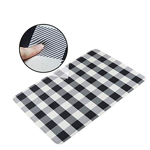 LEEVAN Buffalo Plaid Rug Non-Slip Backing Playroom Rugs Machine Washable Super Soft Rectangle Flannel Microfiber Bedroom Carpet Floor Mat Accent Home Decor (3